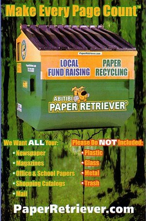 picture describing that only paper can be recycled.