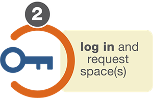 Login and request space