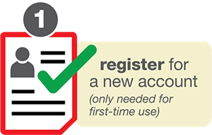 Register for a new account.  Only needed for first-time use